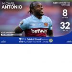 Antonio Named Among PFA Player Of The Month Nominees Alon